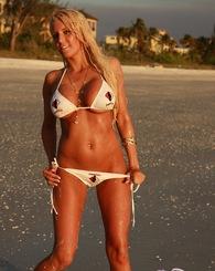Ember on the Beach with Freeones Bikini