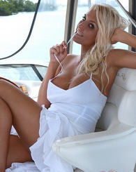 Ember Naked on a Boat